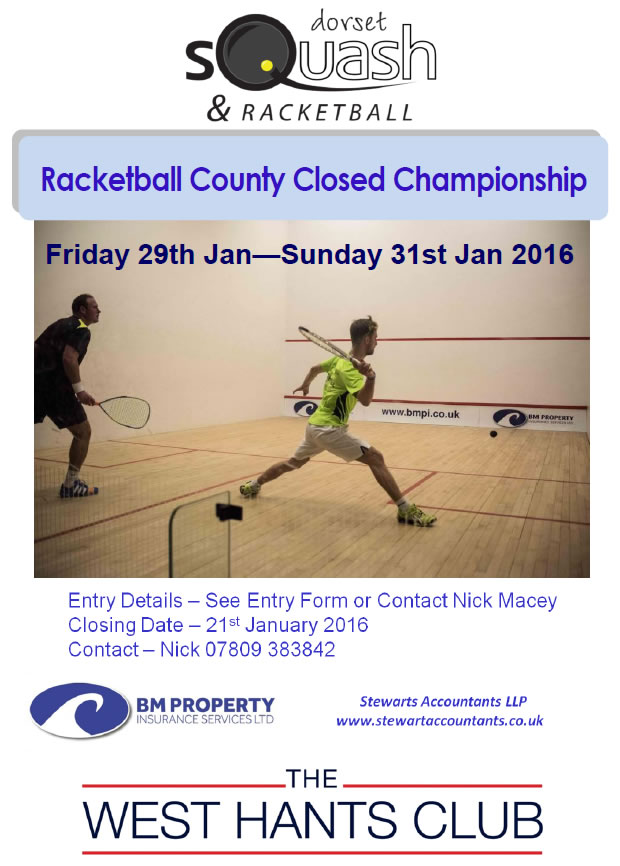 2016 Racketball County Closed Championship
