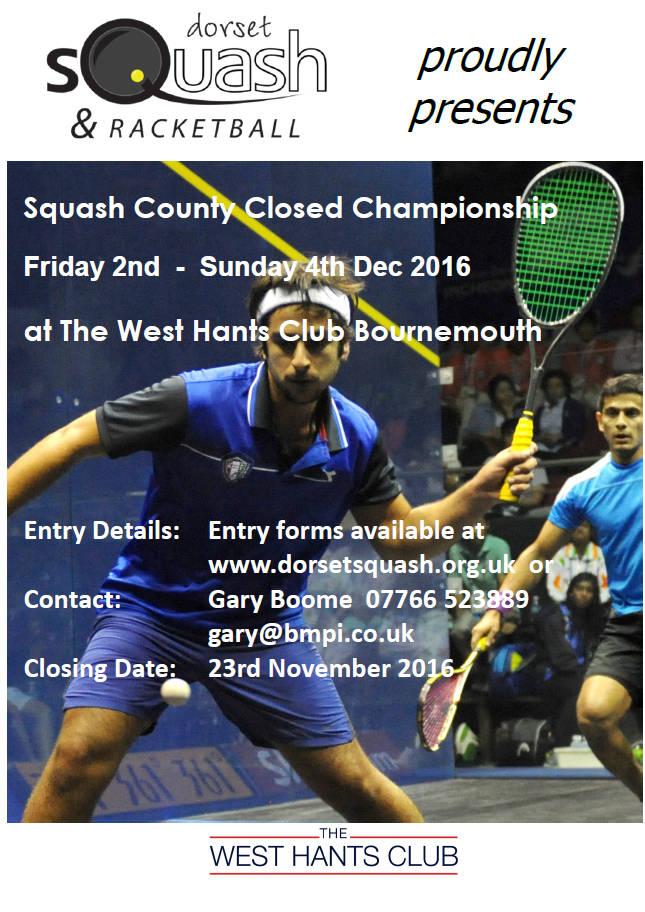 Squash Closed 2016 poster