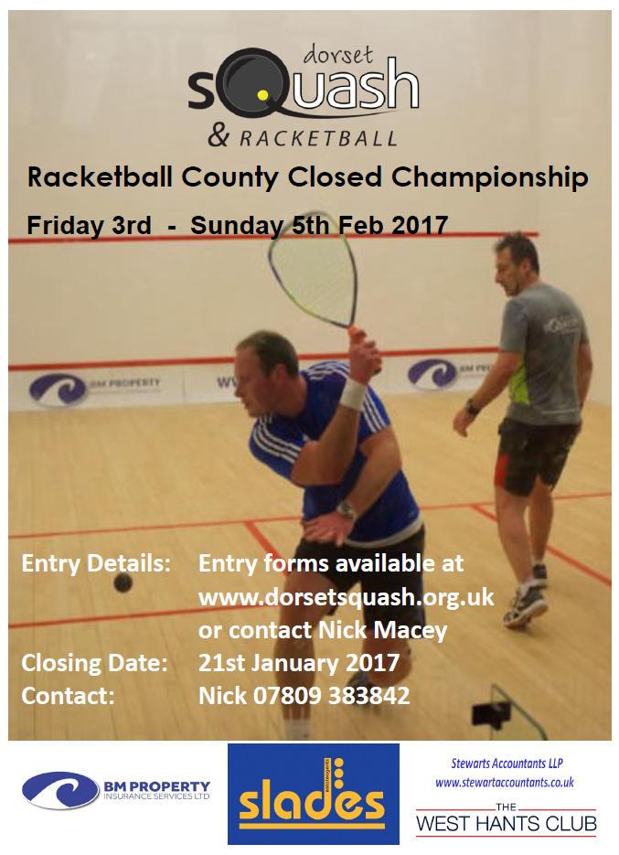 2017 Racketball County Closed Championship