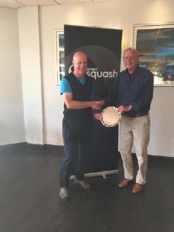 Cliff Warren receiving the Basil Hebden Award