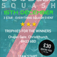 Doubles Squash Tournament – 15th December 2018 @ Bournemouth Sports