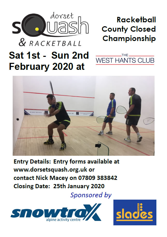 2020 Racketball County Closed Poster