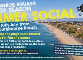 Dorset Junior Squash Summer 2021 Beach Social – POSTPONED